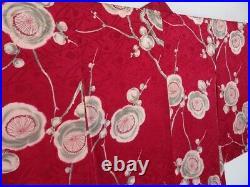 0624N08z500 Vintage Japanese Kimono Silk HAORI Purple-Red Plum branch