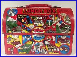 1960's VINTAGE JAPANESE RED TOM & JERRY METAL DOME LUNCH BOX FROM JAPAN RARE