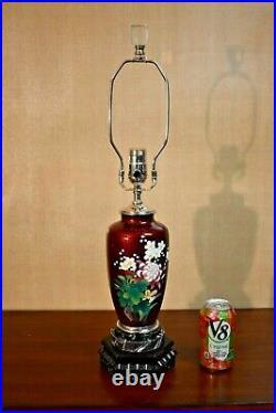 26 Vntg. Japanese Cloisonne Vase Lamp Finest Quality-asian Oriental Porcelain