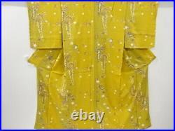 4585585 Japanese Kimono / Vintage Komon Kimono / Kinsai / Wisteria & Cherry Bl
