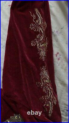 80s Vintage Velvet sz S Japanese Yokosuka bomber jacket embroidered
