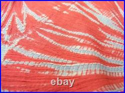 Aloha Hawaiian shirt Vintage Antique Japanese Kimono remake (Silk, Red, L) kiwa