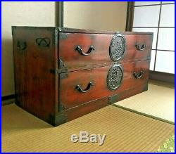 Antique Japanese Furniture cabinet clothes drawers ISHO TANSU