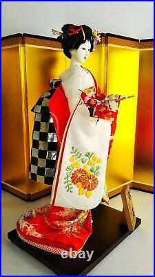 Antique Japanese Geisha in Elaborate Kimono 15.5 40cm Vintage EXCELLENT
