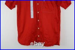 Authentic Vintage Kansai Yamamoto Button Up Red Shirt Japanese Men's Size 2