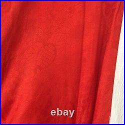 Authentic floral Japanese silk kimono red (sizeM)