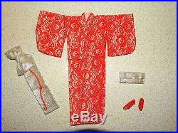 Barbie Francie VINTAGE Complete Japanese Exclusive RED LACE KIMONO Outfit