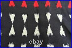 Beautiful Full Length Japanese KIMONO Blue/White/Red Size L 381 W