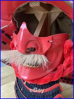 CAS Hanwei Iberia Takeda Shingen Red Samurai Helmet Japanese Vintage With Stand