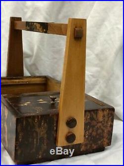 CHERRY BARK, Japanese Tabakobon Vintage Box, Tray, Kabazaiku, pre-owned
