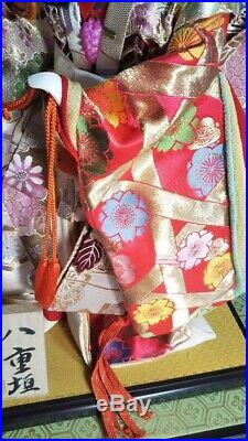 EXCELLENT Japanese Hina Kimono 18 48cm vintage Geisha doll like Ichimatsu san