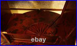 Early to Mid 20th Century Japanese Red Lacquered Cabinet