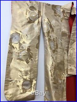 Fabulous Vintage SILK WEDDING KIMONO, Gold & Red, Statement Piece