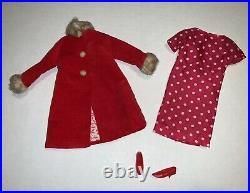 Francie Japanese Exclusive 2233 Red Velvet Coat And Dotted Rayon Dress FR2233