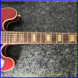 GRECO EG-135 Hollow Body see-through red 60's Japanese Vintage RARE
