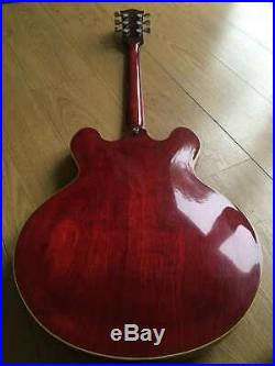 Greco Vintage 1977 Japanese Es-335 Sa-550 Semi-acoustic Persimmon Red