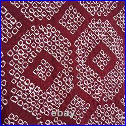 H14 Vintage Silk Japanese Haori Jacketclaretshibori Escape To The Chateau! M