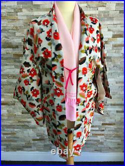 H9 Vintage Silk Japanese Haori Jacketstunning Meisen/ikatcherriesbridal M