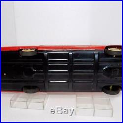 Ichiko Cadillac Red Friction 4-Door Hardtop Japanese Tin Minicar Vintage Rare