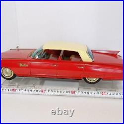 Ichiko Cadillac Red Friction 4 Door Hardtop Japanese Tin Minicar Vintage Used