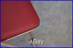 Industrial Vintage Mid Century Japanese Sankei Metal Folding Outdoor Chair, Red