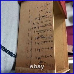 Ishikura Japanese Traditional Paper Medicine Box Red Storage Case Vintage Rare