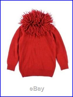 Issey Miyake Sweater Zip Up Japanese Avant Garde Haute Couture Red Vintage Yohji