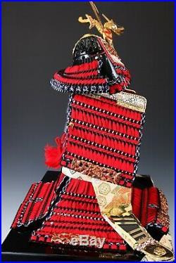 Japanese Beautiful Vintage Samurai Figure Red Color Doll -Yoshitoku Product