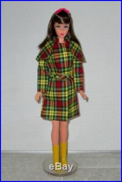 Japanese Exclusive BARBIE Green Yellow Black & Red Plaid Raincoat
