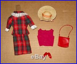 Japanese Exclusive Barbie Red Green & White Plaid Suit #2653