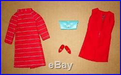 Japanese Exclusive Barbie Red Orange Striped Coat Outfit