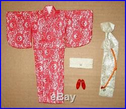 Japanese Exclusive Francie Red Lace Kimono
