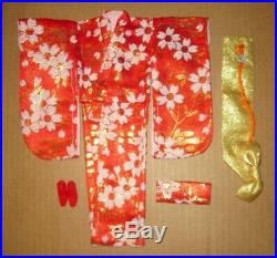 Japanese Exclusive Francie Red and Gold Brocade Kimono