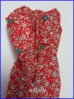 Japanese Exclusive Vintage Barbie Red Flare #939 Floral Sheath Dress Sample