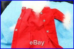 Japanese Exclusive Vintage Barbie Red Velvet White Fur Coat Rare 1960's rare
