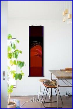 Japanese Hanging Scroll Vintage Design Modern Wall Scroll 59 x 16.9 Wall J-1033