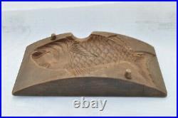 Japanese Kashigata KASHIGATA hand carved Mold Wooden Vintage Red snapper rare