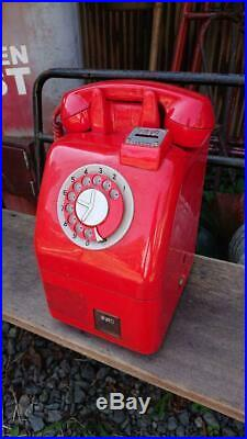 Japanese Public Phone 10 Yen Red Telephone Payphone Vintage Retro Rare Junk