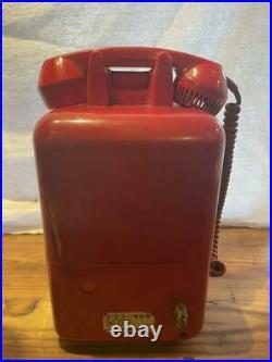 Japanese Public Phone Red Vintage Showa Retro Miffy Electronics Call Antique