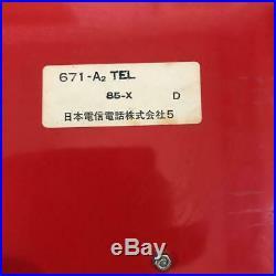 Japanese Red telephone Public telephone Piggy bank Retro Payphone Vintage Rare