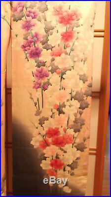 Japanese Vintage Furisode Kimono Yuzen Cherry Blossom