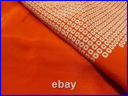 Japanese Vintage Kimono Nagajyuban Silk Red k02 008