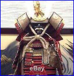 Japanese traditional vintage wearable armor Old samurai KABUTO YOROI gyokuho 6E