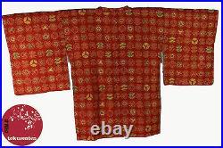 Kimono Japanese Authentic Real Silk Seta Silk Made IN Japan Vintage Rare