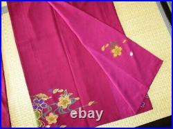 Kimono Vintage Japanese Woman's furisode Cherry Blossom Pure Silk River Flow