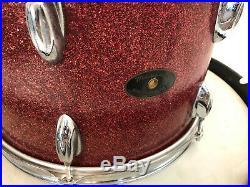 Mayfair 2-Piece Drum Set Vintage MIJ Japanese Stencil kit Re-rings Red Sparkle