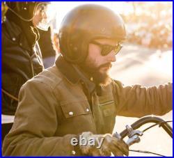 Motorcycle Helmet Japanese Low Profile Vintage Helmet Fiberglass Shell Open Face
