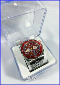 New Mens Adidas Stockholm Chronograph Watch ADH2827 Red Stainless 45mm Japanese