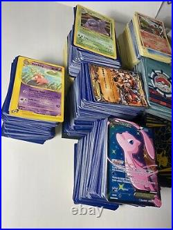 POKEMON Card Collection EPIC LOT Thousands of Cards EX X Holos 1995-2002 Vintage