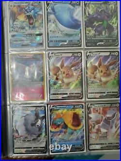 Pokemon Card Binder Collection Lot with Charizards, 250 Cards, and 1 PSA Vintage